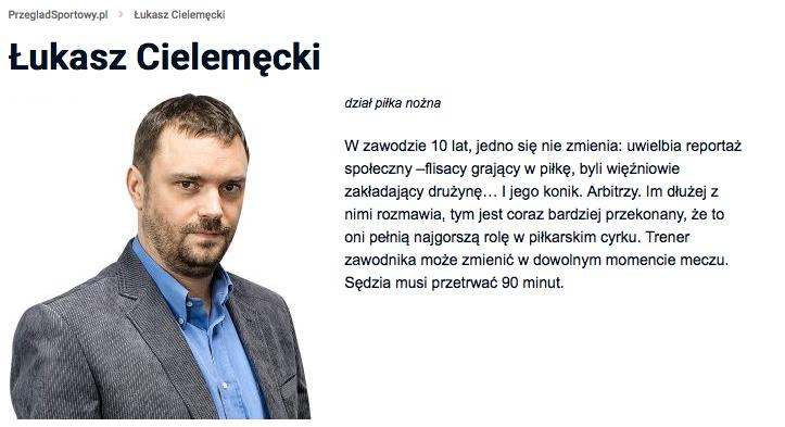 """Łukasz Cielemęcki – nota z """"Przeglądu Sportowego"""""""