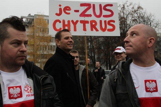 Protest drobnych i średnich przedsiębiorców pod Sejmem