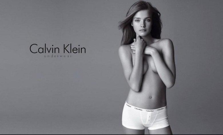 Natalia Vodianova w kampanii Calvina Kleina