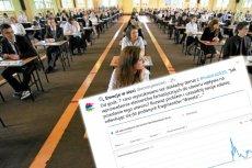 Wszystko wskazuje na to, że część uczniów znało temat rozprawki z polskiego przed startem egzaminu