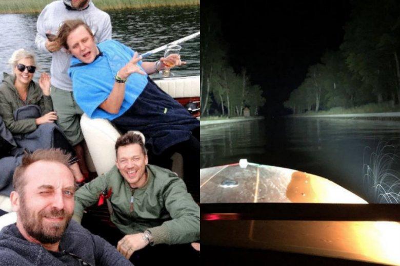 Na zdjęciach z Instagrama widać, jak Piotr Woźniak-Starak pływał ze znajomymi motorówką.