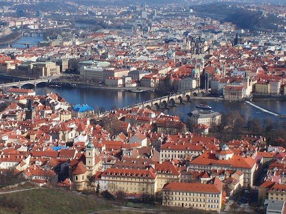 Widok z wieży Petrzin