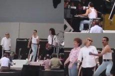 Aktor Rami Malek doskonale naśladuje ruchy lidera Queen - Freddiego Mercury'ego.