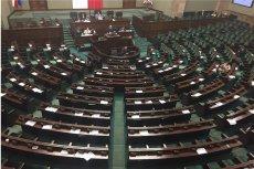 Tak wyglądała sala plenarna podczas wystąpienia Adama Bodnara. Bardzo smutny widok.