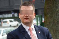Bartłomiej M. został w poniedziałek rano zatrzymany przez CBA.