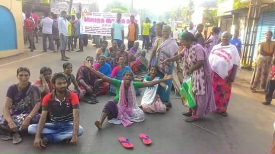 Protesty przeciwko budowie międzynarodowego portu w Vizhinjam, Kerala, Indie