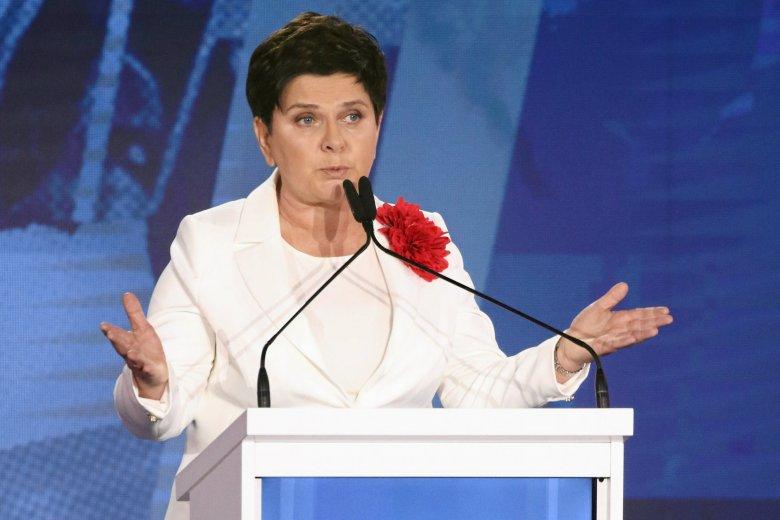 Beata Szydło skomentowała niższe poparcie dla PiS w sondażach.