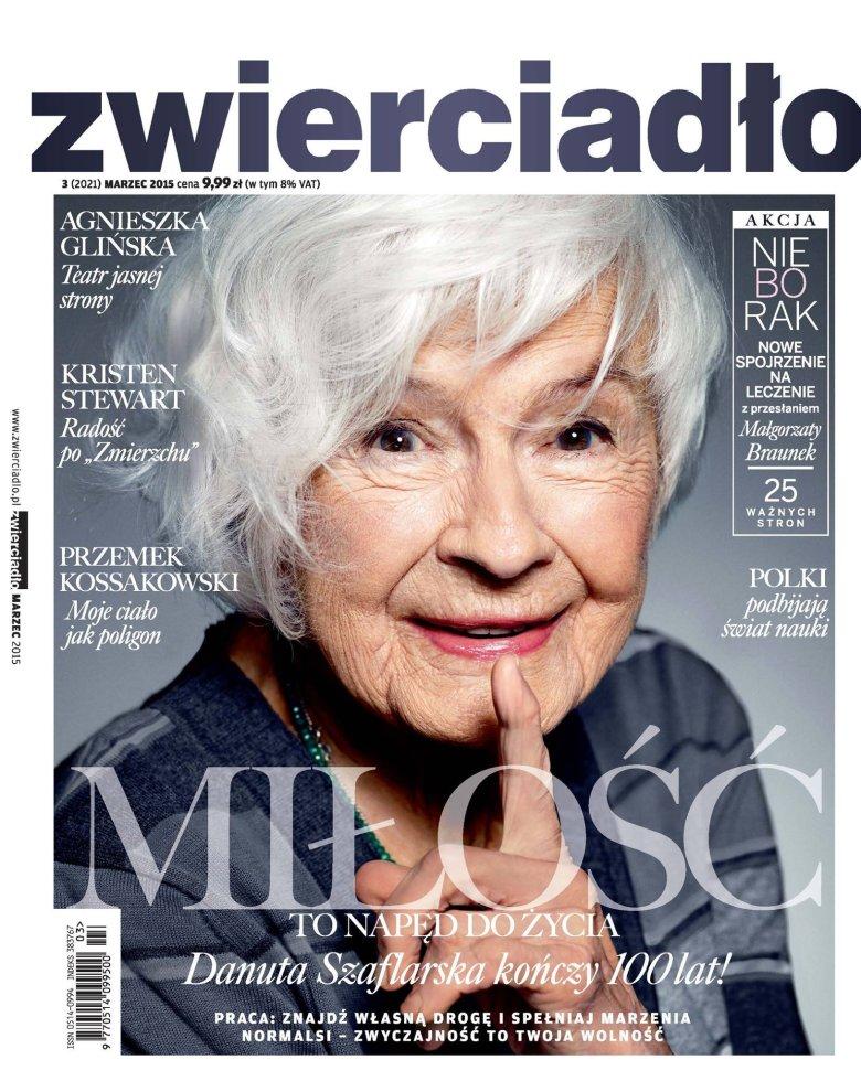 Marcowa okładka magazynu Zwierciadło, fot. Marlena Bielińska/MOVE