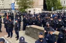 Policja ścigała protestujących przedsiębiorców ulicami Warszawy.