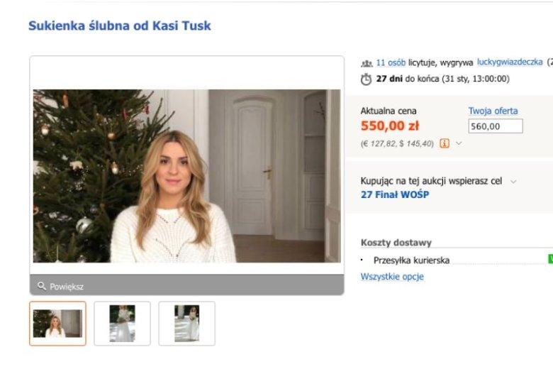 Suknia ślubna Kasi Tusk ma już ponad pięć lat