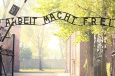 20 metrów od bramy Auschwitz stoi czerwone ferrari. Firma do której należy zaprasza na przejażdżki nim wokół muzeum.