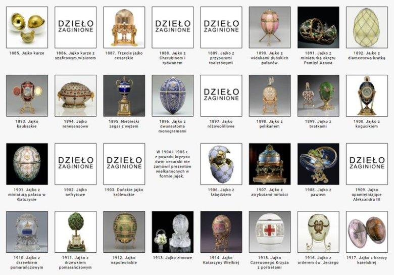 2.Kolekcja jaj Faberge należących do cesarzowej Marii Fiodorownej.