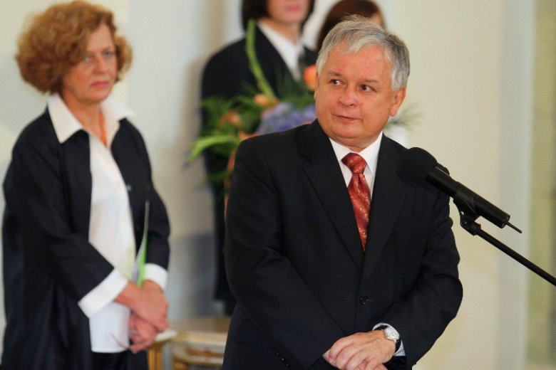 Gala Przedsiębiorczości w Warszawie. Prezydent Lech Kaczyński i Ewa Junczyk-Ziomecka.