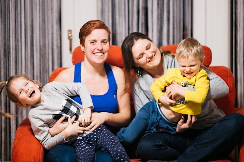 Od lewej: bratanica Magda i Ania oraz dzieci Julka i Jurek.