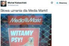 Akcja sieci Media Markt spodobała się posłowie Michałowi Kabacińskiemu