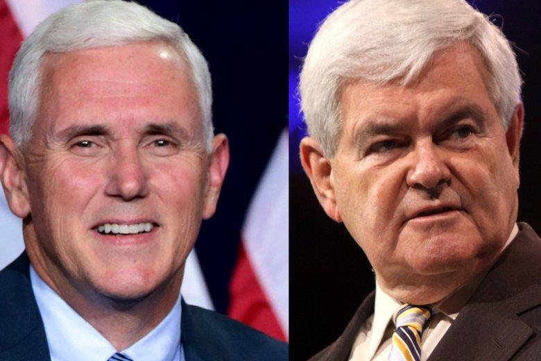 Mike Pence ma być wizeprezydentem USA, Newt Gingrich – sekretarzem stanu.