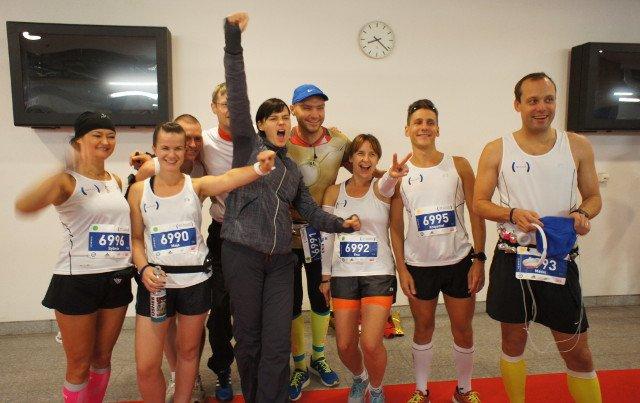 Cała drużyna Biegaj na Zdrowie tuż przed startem