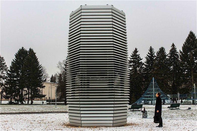 Tak prezentowała się Smog Free Tower, gdy odpalono ją w Krakowie