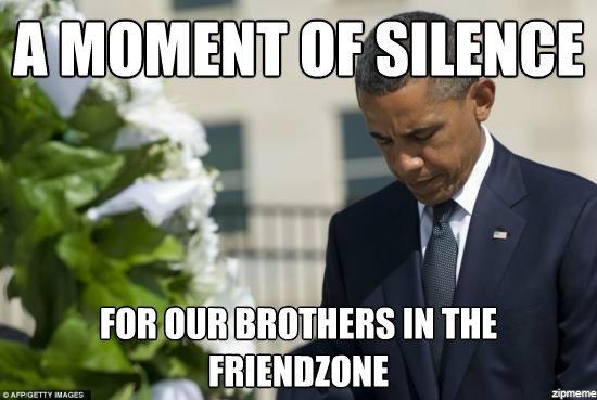 Typowy mem dotyczący friend zone.
