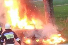 29-latka płonęła na oczach kierowców. Wypadek na DK81 w Orzeszu Gardawicach.