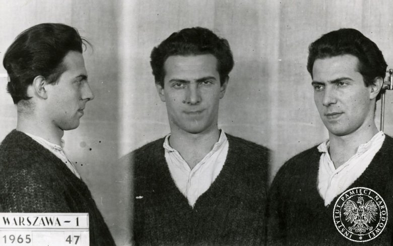Karol Modzelewski zatrzymany za działalność opozycyjną w 1965 r.