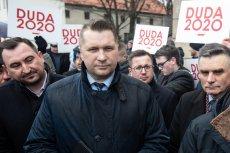 Poseł PiS Przemysław Czarnek straszył podczas debaty w Senacie wprowadzeniem stanu wyjątkowego.