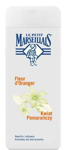 Żel pod prysznic Kwiat pomarańczy Le Petit Marseillais, ulubiony zapach pod prysznic Francuzek, obok mydeł z werbeną
