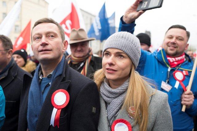 Marsz KOD Niepodległości 11 listopada 2016 r., Joanna Schmidt i Paweł Rabiej