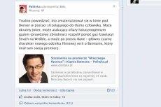 Bartek Chaciński wywołał burzę na Facebooku