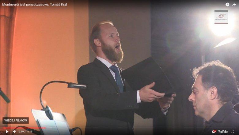 Tomas Kral śpiewa Monteverdiego na Wratislavii Cantans 2017