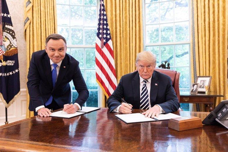Duda i Trump podpisali umowę o współpracy wojskowej. Gdzie powstanie Fort Trump?