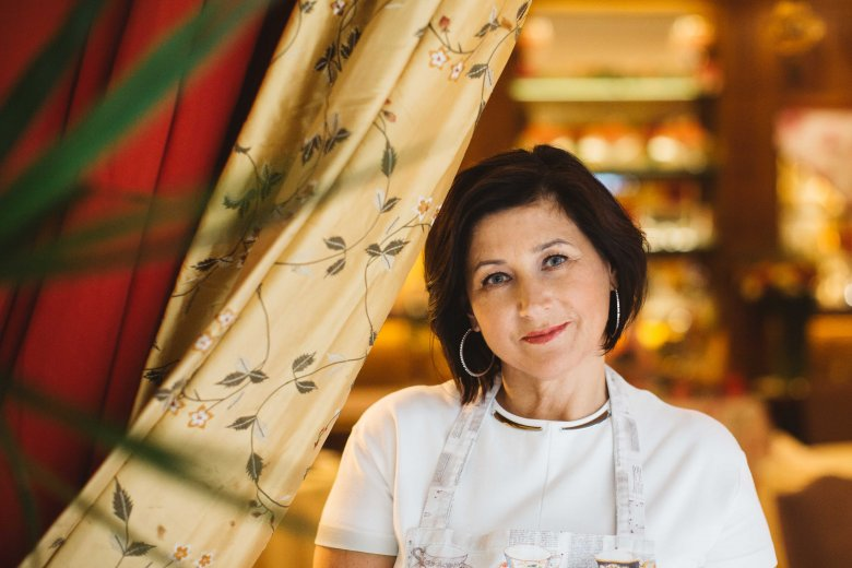 Pani Katarzyna Wasilewska, właścicielka restauracji Dom Polski na ul. Francuskiej 11 w Warszawie