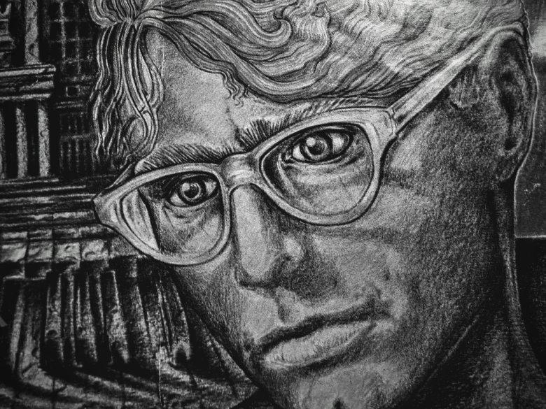 Komeda - okładka folderu i plakat z okazji z 20. rocznicy śmierci Krzysztofa Komedy. Kwiecień 1989 | Fot. Tomasz Lach