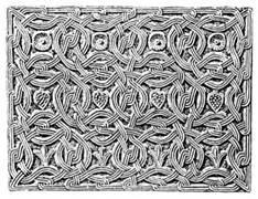 Marmurowy element dekoracyjny z bazyliki św. Ambrożego w Mediolanie.
