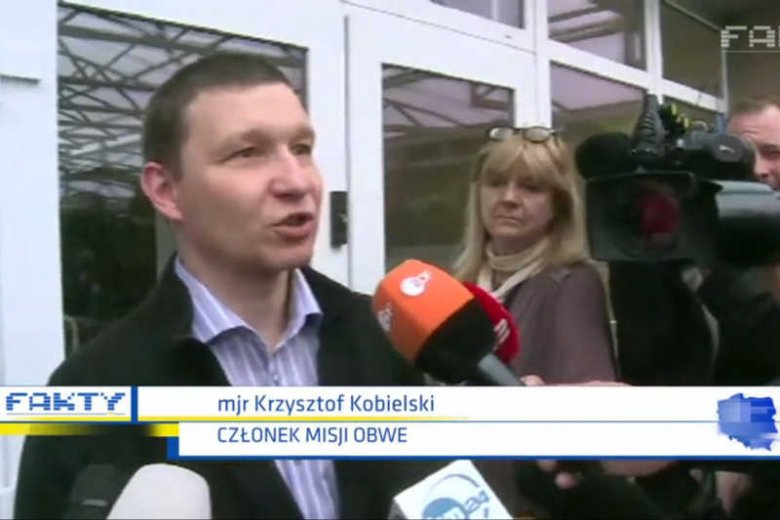 Major Krzysztof Kobielski i inni uczestnicy misji OBWE zostali uwolnieni.