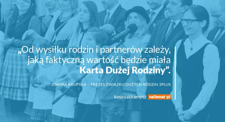 Joanna Krupska –prezes Związku Dużych Rodzin 3 Plus