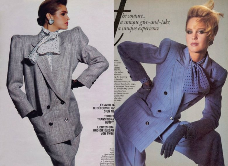 W latach 80. modą rządziły poduchy i kanty