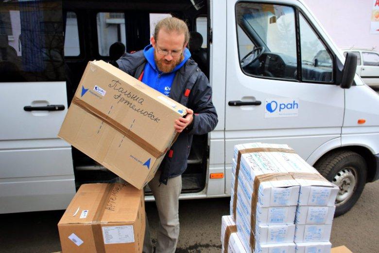Działania PAH kojarząsię głównie z Afryką, ale nie jest tak zawsze. W 2015 dary trafiły do szpitala dziecięcego w ukraińskim Artemiwsku.