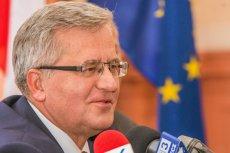 Bronisław Komorowski chce wystartować w wyborach do PE.
