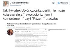 Po Twitterze krąży zdjęcie przedstawiające instrukcję dla członków partii Razem