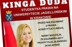 Internet kpi z Kingi Dudy za błędy popełniane przez jej ojca, prezydenta Andrzeja Dudę.