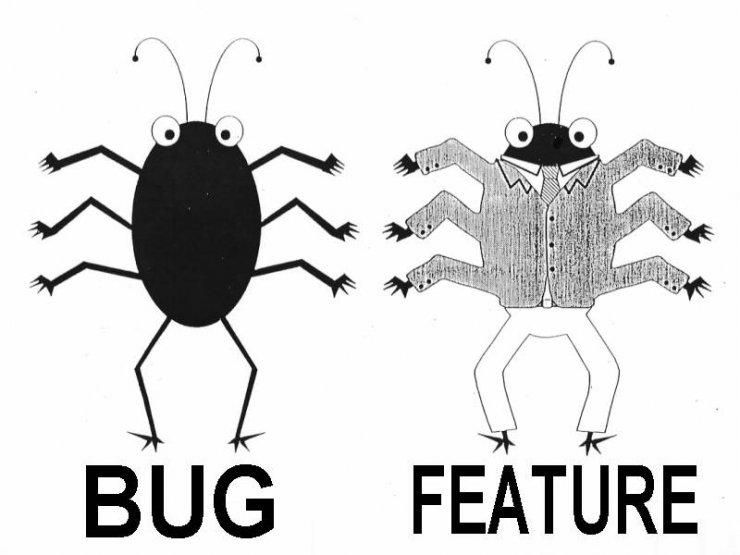 """Jeśli implementacja hacka powoduje błędy w działaniu gry, czasem jedynym wyjściem jest przekonanie graczy, że to założona funkcjonalność (ang. """"It's not a bug - it's a feature!"""")."""