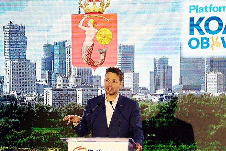 W walce o fotel prezydenta Warszawy Rafał Trzaskowski reprezentuje Koalicję Obywatelską, czyli połączone siły PO i Nowoczesnej.