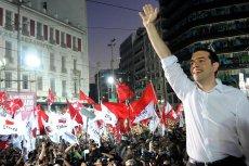 Alexis Tsipras podczas wiecu politycznego