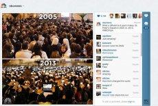 Oczekiwanie na wybór papieża w 2005 i 2013 roku - to zdjęcie podbiło internet