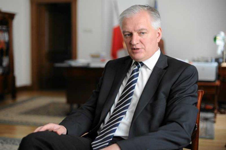 Minister sprawiedliwości Jarosław Gowin ma prawo w nosie