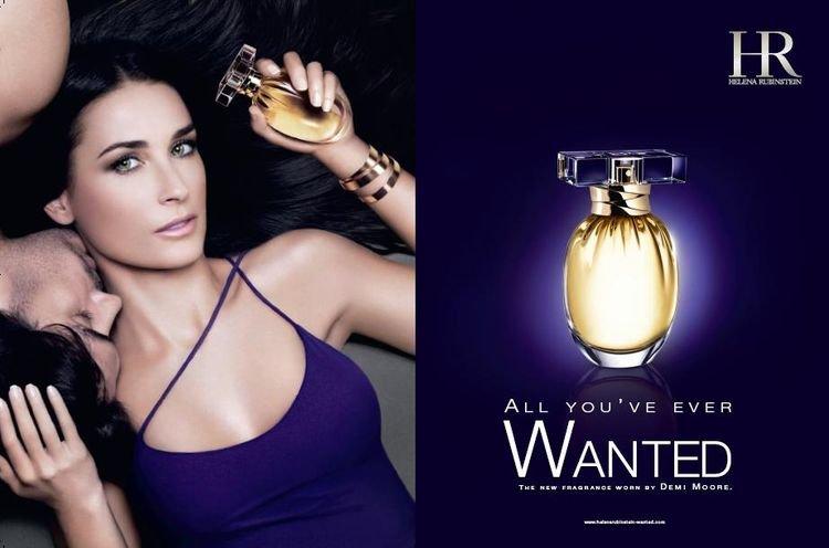 Demi Moore reklamuję markę Helena Rubenstein