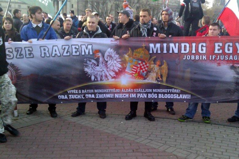 Węgierska skrajna prawica na Marszu Niepodległości