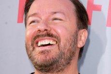 Śmiech Gervaisa wwierca się w mózg - a komik śmieje się bardzo często.