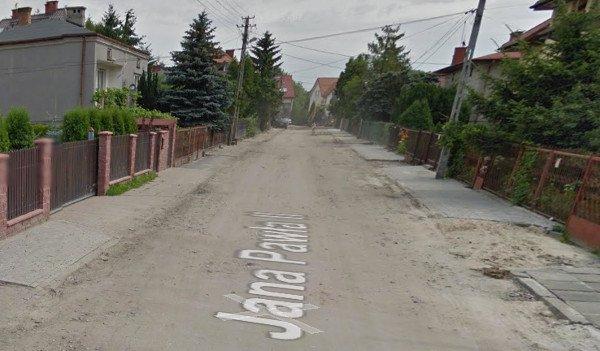 Tak wygląda ulica Jana Pawła II w Markach.